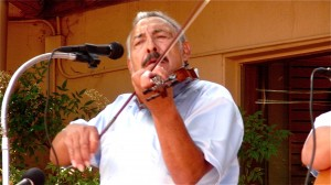 Cipriano Vigil Playing Violin