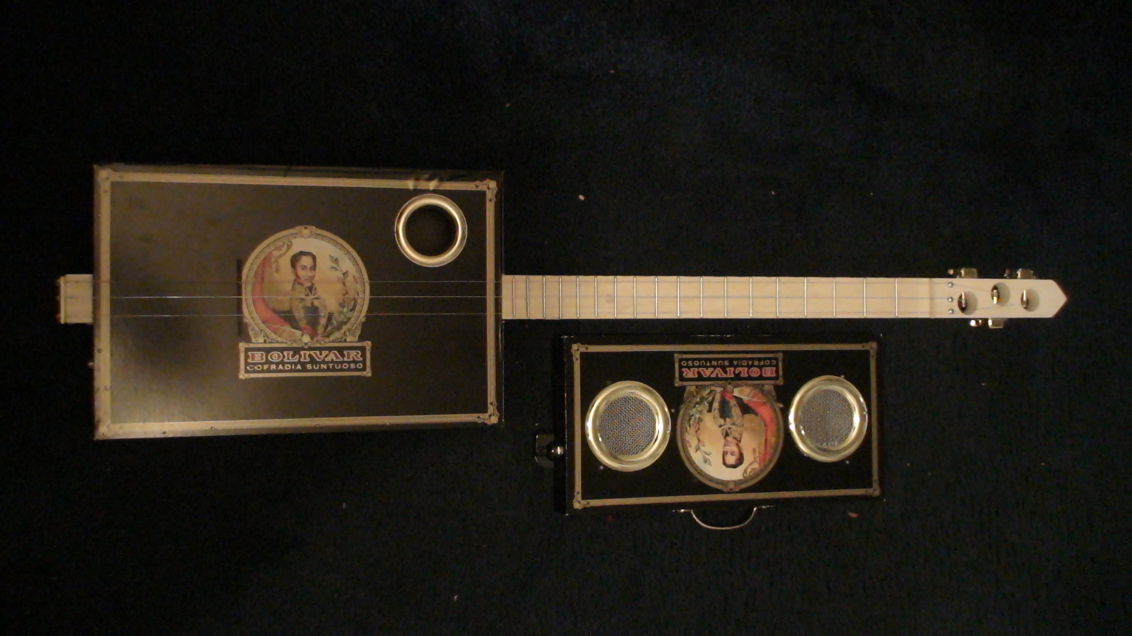 Bolivar Cigar Box Guitar by Cipriano Vigil