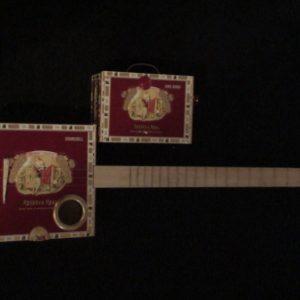 Romeo y Julieta Cigar Box Guitar by Cipriano Vigil