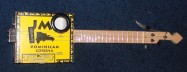 Yellow JM's Cigar Box Guitar